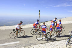 Groupe de cyclistes Photos stock