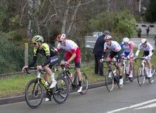 Groupe de cyclistes - 2019 Paris-gentil photo stock