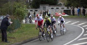 Groupe de cyclistes - 2019 Paris-gentil image libre de droits