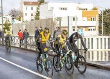 Groupe de cyclistes - 2018 Paris-gentil photo libre de droits