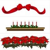 Groupe de décoration de Noël Photos stock
