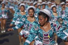 Groupe de danse de Caporales - Arica, Chili Image libre de droits