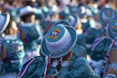 Groupe de danse de Caporales - Arica, Chili Photo libre de droits