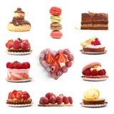 Groupe de desserts de baie et de chocolat Photo libre de droits