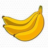 Groupe de dessin animé de bananes Image libre de droits
