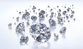 Groupe de diamants sur un fond blanc illustration libre de droits