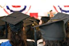 Groupe de diplômés enfoncés Photo stock