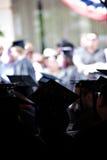 Groupe de diplômés enfoncés Photos stock