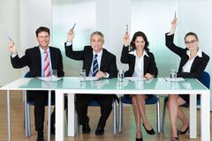 Groupe de dirigeants de recrutement d'emploi Image stock