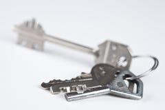 Groupe de diverses clés en métal photographie stock libre de droits