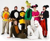 Groupe de divertissement de théâtre Images libres de droits
