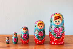 Groupe de famille de matryoshka photographie stock