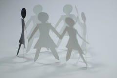 Groupe de femme V Image libre de droits