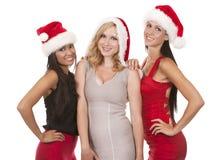 Groupe de femmes de Noël Images libres de droits