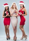 Groupe de femmes de Noël Photos libres de droits