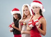 Groupe de femmes de Noël Photographie stock libre de droits