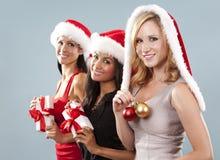 Groupe de femmes de Noël Photographie stock