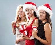 Groupe de femmes de Noël Image stock