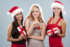 Groupe de femmes de Noël Photo stock