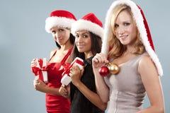 Groupe de femmes de Noël Images stock