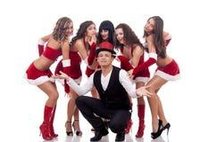 Groupe de femmes de Santa Photos stock