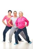 Groupe de femmes faisant la forme physique Photos stock
