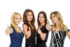 Groupe de filles avec des pouces  Images libres de droits