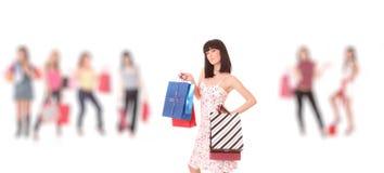 Groupe de filles d'achats Photographie stock