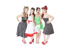 Groupe de filles de pin-up Image stock