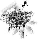Groupe de fleur abstrait Photo libre de droits