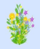 Groupe de fleurs illustration de vecteur