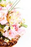 Groupe de fleurs artificielles Photographie stock libre de droits