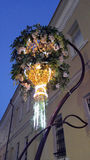 Groupe de fleurs au centre de Moscou Photos libres de droits