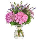 Groupe de fleurs avec l'hortensia et les herbes Photographie stock libre de droits