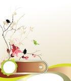 Groupe de fleurs avec la trame pour le texte Photos stock