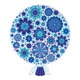 Groupe de fleurs bleues illustration stock