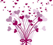 Groupe de fleurs de coeur Image libre de droits