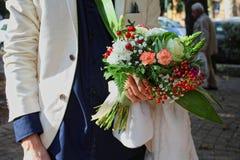 Groupe de fleurs de mariage Photo libre de droits