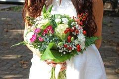 Groupe de fleurs de mariage Images libres de droits