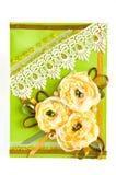 Groupe de fleurs jaunes Photos libres de droits