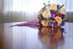 Groupe de fleurs pour la mariée Photo libre de droits