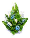 Groupe de fleurs Richardia de callas, zantedeschia et cloches de main photo libre de droits