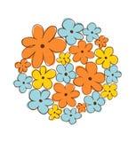 Groupe de fleurs rond vecteur lumineux d'illustration de fleur de bouquet Peut être employé pour des cartes de salutation et de m illustration de vecteur