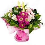 Groupe de fleurs roses Photo stock