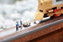 Groupe de fonctionnement (miniature) de pompier Image libre de droits