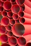 Groupe de fond rouge de conduites d'eau Photo stock