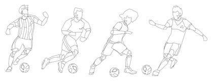Groupe de footballeurs du football illustration libre de droits