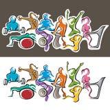 Groupe de forme physique Image libre de droits