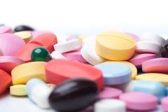 Groupe de fournitures médicales colorées Photo libre de droits