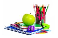 Groupe de fournitures scolaires Photos libres de droits